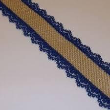 navy lace ribbon burlap with navy lace ribbon 1 5 inch x 3 yards 6 00 via etsy