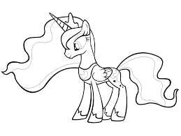 princess luna little pony coloring pages printable inside princess