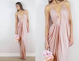 blush bridesmaid dress blush bridesmaids dress blush prom dress blush draped gown