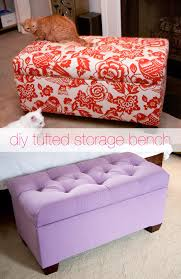 Diy Tufted Storage Ottoman Glitter And Goat Cheese Diy Tufted Storage Bench Glitter