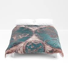 World Map Bedding Graphic Design And Pop Art Duvet Covers Society6