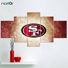 san francisco 49ers home decor 5 pieces wall art hd printed san francisco 49ers sports team fans