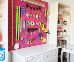 Sewing Room Wall Decor Amazing Pegboard Craft And Sewing Room Organization Feat Wall