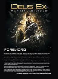 Deus Ex Movie Preview Pages Revealed For Deus Ex Mankind Divided Limited