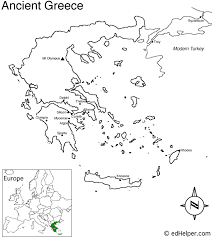 blank map of ancient greece greece outline map