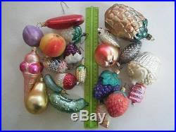 italian blown glass ornaments various assorted