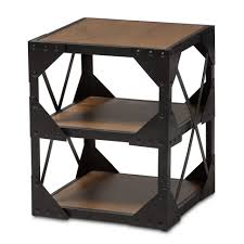 Et Coffee et industrial style end tables baxton studio hudson rustic antique