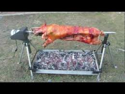 Fire Pit Rotisserie by Whole Hog Rotisserie Spit By Pigout Roasters Youtube