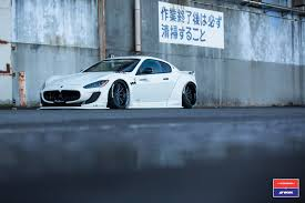 maserati granturismo 2016 white liberty walk maserati granturismo in white gets custom stance and