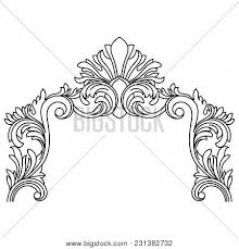 black vintage ornament baroque vector photo bigstock