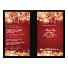 Christmas Wedding Programs Christmas Wedding Flyers U0026 Programs Zazzle