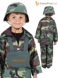 Military Halloween Costumes Kids Age 4 12 Kids Ve Ww2 Army Soldier Combat Uniform Costume Fancy