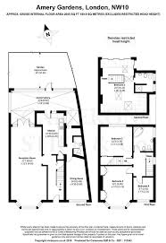 the amery floor plan amery gardens kensal rise london nw10 4 bed semi detached house