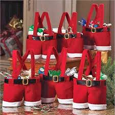 Christmas Decorations Cheap by Creative Christmas Ornaments Red Santa Pants Elf Spirit Candy Bags