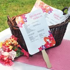 how to make wedding program fans diy designer fan program paper kit 10 designs couture bridal