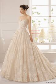 Champagne Wedding Dresses Aire Barcelona 2015 Strapless Wedding Dresses Wedding Inspirasi