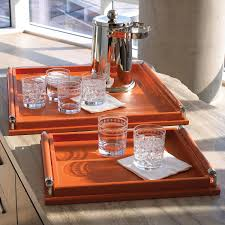 global views leather wrapped coral tray spring has arrived