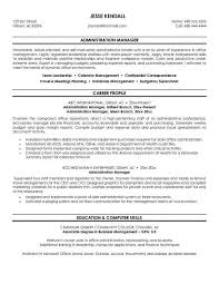 resume format administration manager job profiles exle administration manager resume free sle career profile
