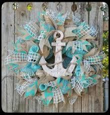 summer deco mesh wreath summer burlap wreath anchor wreath
