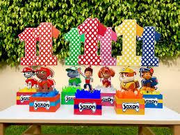Birthday Candy Buffet Ideas by Paw Patrol Number Centerpieces For Birthday Candy Buffet Or Favors