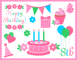 birthday martini clipart birthday clipart digital elements png transparent background