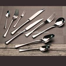 Artistic Flatware Stainless Steel Silver And Gold Cutlery Set Stainless Steel
