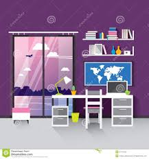 working place at home stock vector image 57474253