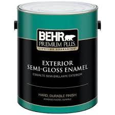 behr premium plus 5 gal ultra pure white semi gloss enamel