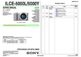 sony ilce 5000l ilce 5000y service manual page 5
