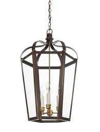 king street interior hanging light copper lantern foyer lighting
