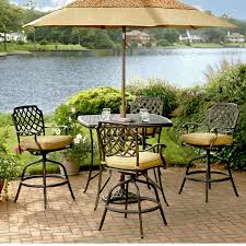Aluminum Patio Bar Set Marvelous Bar Height Outdoor Table And Chairs Provance Cast