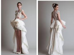 wedding fashion discount krikor jabotian fashion wedding dresses crew back hollow