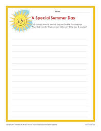 special summer day creative writing prompt for 4th and 5th grade