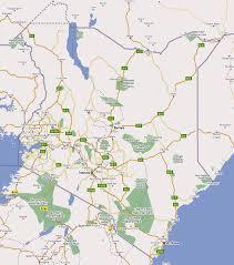 Kenya Map Africa by Detailed Kenya Road And National Parks Map Kenya Detailed Road