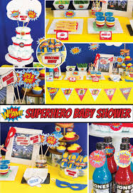 superhero baby shower decorations package superhero shower