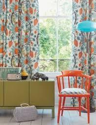 Blue And Orange Curtains Navy Light Blue Orange Themed Rooms