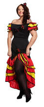 10 18 spanish salsa rumba costume flamenco mexican ladies fancy