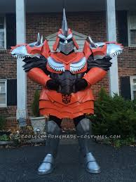 Transformer Halloween Costume Transforms Homemade Dinobot Grimlock Costume Transformers Age
