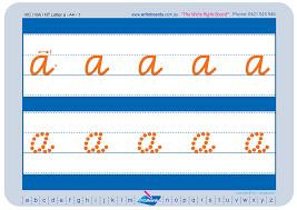 vic modern cursive font writeboards children u0027s writing board