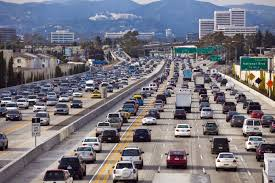 los angeles traffic curbed la