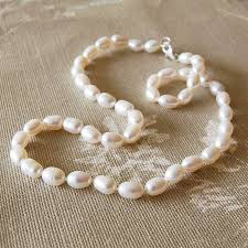 pearls necklace real images Rice pearl necklace by highland angel jpg