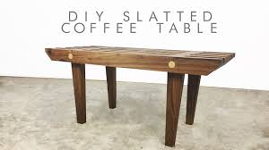 Mid Century Modern Sofa Table by Diy Mid Century Modern Slatted Coffee Table Modern Builds Ep