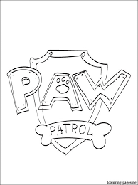 paw patrol logo coloring coloring pages