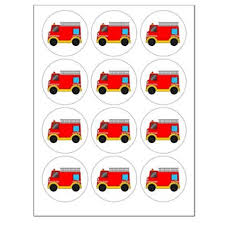 firefighter cupcake toppers buy makebake engine truck cupcake toppers x 12 in cheap
