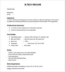 resume format for fresher gallery 1 resume format for backend