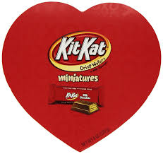 amazon com kit kat valentine u0027s miniatures 8 ounce heart box
