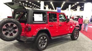 2018 jeep wrangler jl walkaround fort worth auto show youtube