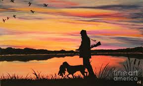 duck hunting painting duck hunting at dawn by olga zavgorodnya