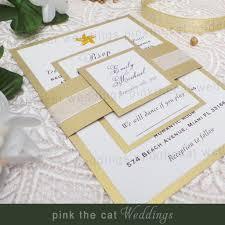 30 wedding invitations lace blue beach pocket fold square set