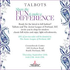 Portland Me Zip Code Map by Junior League Of Portland Maine Fundraiser At Talbots Tickets